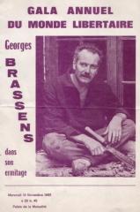 Georges Brassens, Maurice Joyeux, Suzy Chevet, Fédération anarchiste, Groupe libertaire Louise Michel, Le Libertaire, Pierre Jouventin, revue Ego